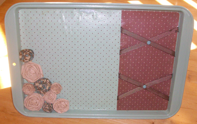 Finished Magnetic Message Board