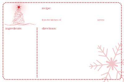 Friday Free Printable:christmas recipe card